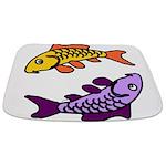Pair of Abstract Colorful Carp Bathmat