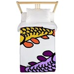 Pair of Abstract Colorful Carp Twin Duvet Cover