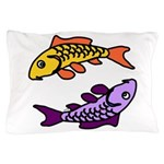 Pair of Abstract Colorful Carp Pillow Case