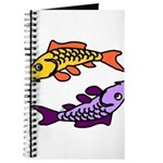Pair of Abstract Colorful Carp Journal