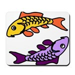 Pair of Abstract Colorful Carp Mousepad