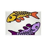 Pair of Abstract Colorful Carp Magnets