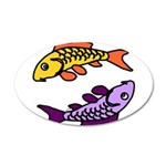 Pair Of Abstract Colorful 35x21 Oval Wall Decal