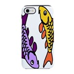 Pair of Abstract Colorful Carp iPhone 8/7 Tough Ca