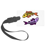 Pair of Abstract Colorful Carp Luggage Tag