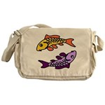 Pair of Abstract Colorful Carp Messenger Bag