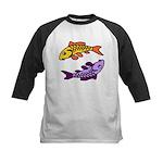 Pair of Abstract Colorful Carp Baseball Jersey