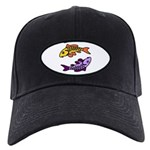Pair Of Abstract Colorful Black Cap With Patch