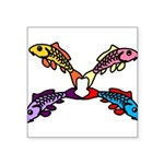 Abstract Colorful Carp 4 flower Sticker