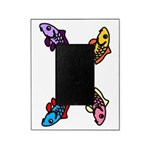 Abstract Colorful Carp 4 Flower Picture Frame