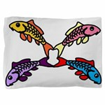 Abstract Colorful Carp 4 flower Pillow Sham