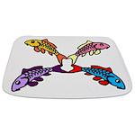 Abstract Colorful Carp 4 flower Bathmat