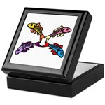 Abstract Colorful Carp 4 flower Keepsake Box