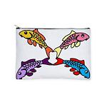 Abstract Colorful Carp 4 flower Makeup Bag