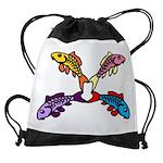 Abstract Colorful Carp 4 flower Drawstring Bag
