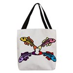 Abstract Colorful Carp 4 flower Polyester Tote Bag