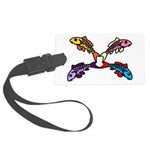 Abstract Colorful Carp 4 flower Luggage Tag