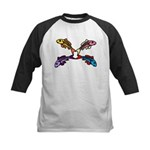 Abstract Colorful Carp 4 flower Baseball Jersey