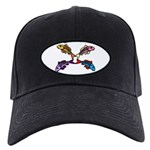 Abstract Colorful Carp 4 Black Cap With Patch