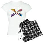 Abstract Colorful Carp 4 flower Pajamas