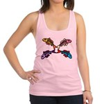 Abstract Colorful Carp 4 flower Tank Top