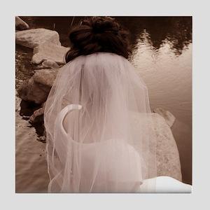 Bride Sepia Tile Coaster