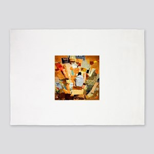 Kurt Schwitters Difficult 5'x7'Area Rug