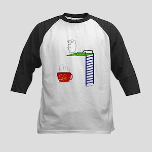 accro de cafe/coffee addict Kids Baseball Jersey