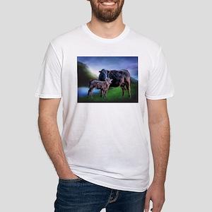 Black Angus Cow and Calf T-Shirt