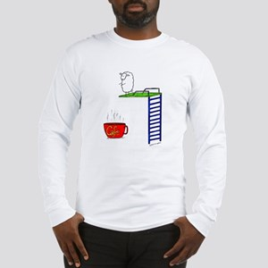 accro de cafe/coffee addict Long Sleeve T-Shirt