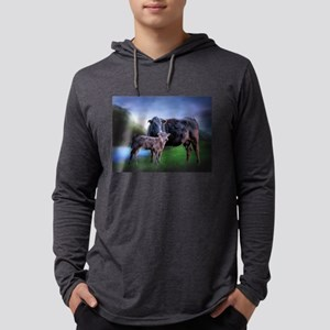 Black Angus Cow and Calf Long Sleeve T-Shirt
