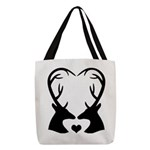 Deer Couple Heart Buck Hunting Love Polyester Tote