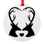 Deer Couple Heart Buck Hunting Love Ornament