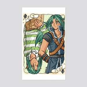 Aeneas Playing Card Rectangle Sticker