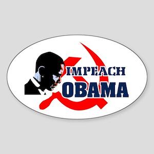 Impeach Obama Oval Sticker