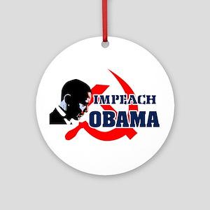 Impeach Obama Ornament (Round)