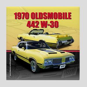1970 Olds 442 Tile Coaster