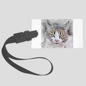 Artistic animal cat Large Luggage Tag