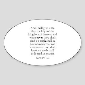 MATTHEW 16:19 Oval Sticker