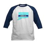 True Blue Connecticut LIBERAL Kids Baseball Jersey