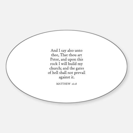 MATTHEW 16:18 Oval Decal