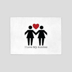 I Love My Aunties 5'x7'Area Rug