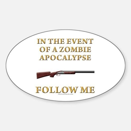 Zombie Apocalypse Oval Decal