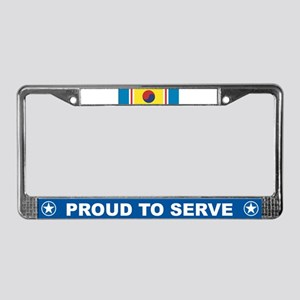 Korean War Service License Plate Frame