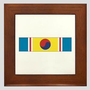 Korean War Service Framed Tile