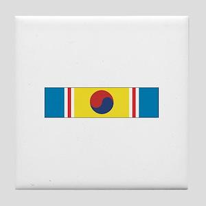 Korean War Service Tile Coaster