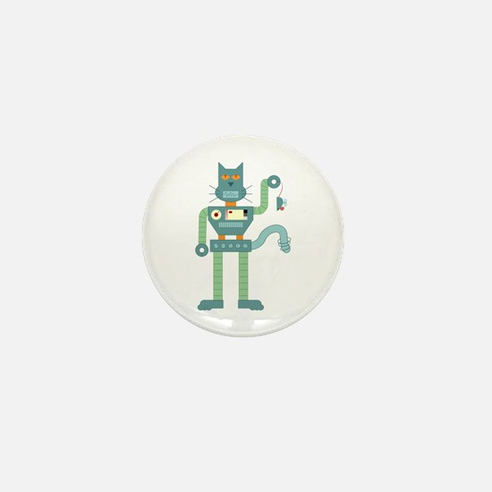 Robot Cat Mouse Toy Mini Button