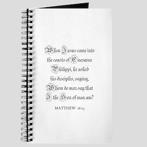 MATTHEW 16:13 Journal