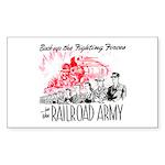 The Railroad Army Rectangle Sticker