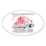 The Railroad Army Oval Sticker